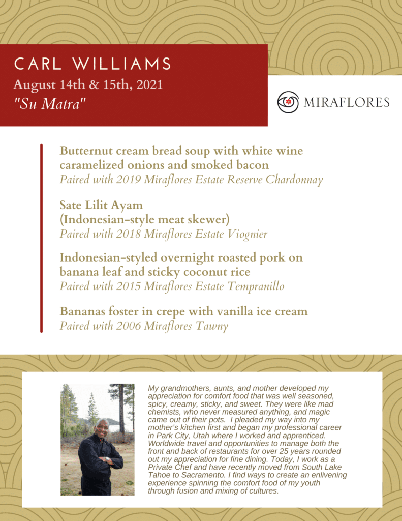 chef pairing carl williams