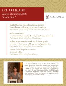 chef pairing liz freeman