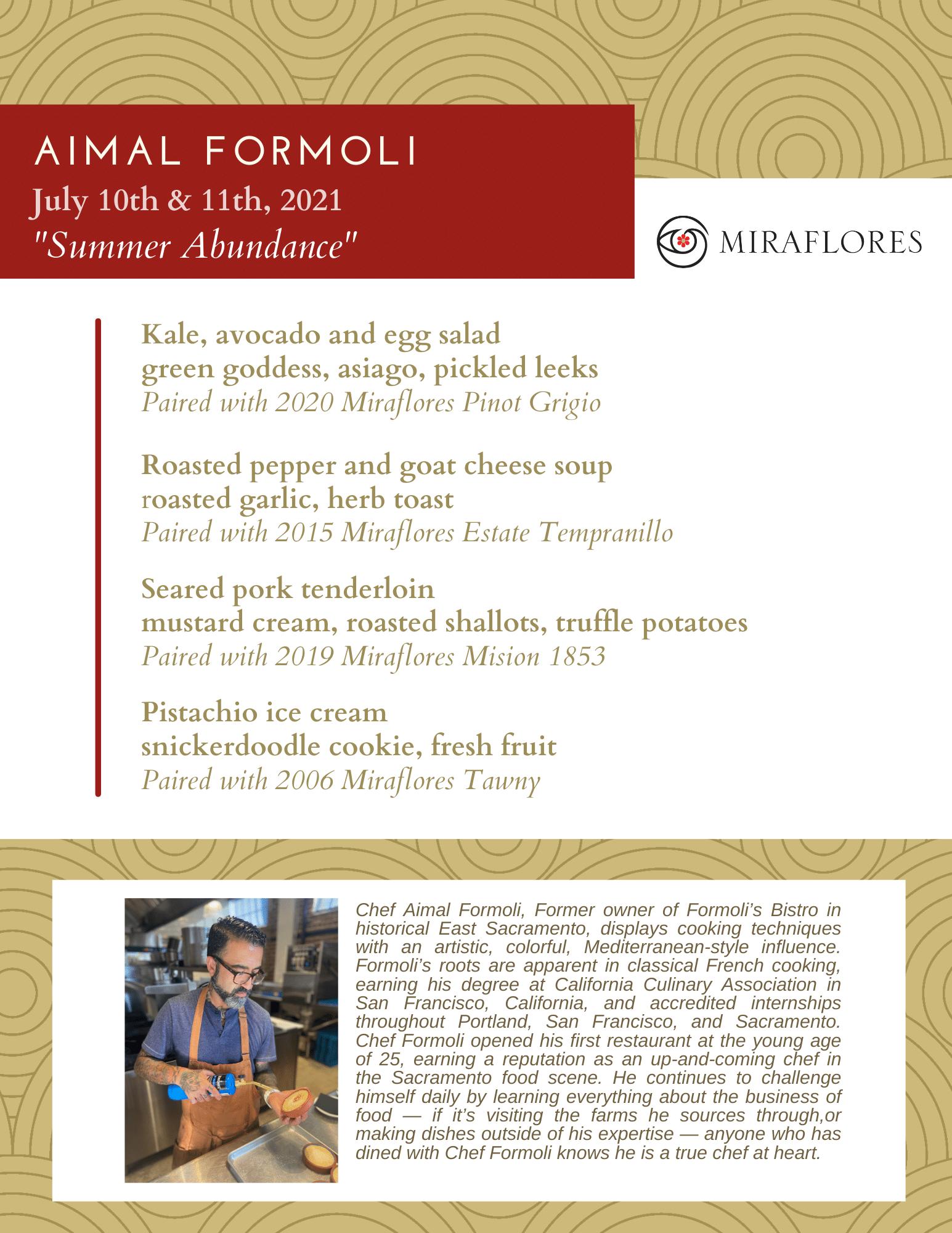 Chef pairing Aimal Formoli