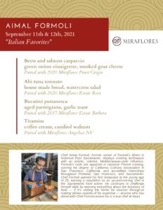 summer pairing with Aimal Formoli
