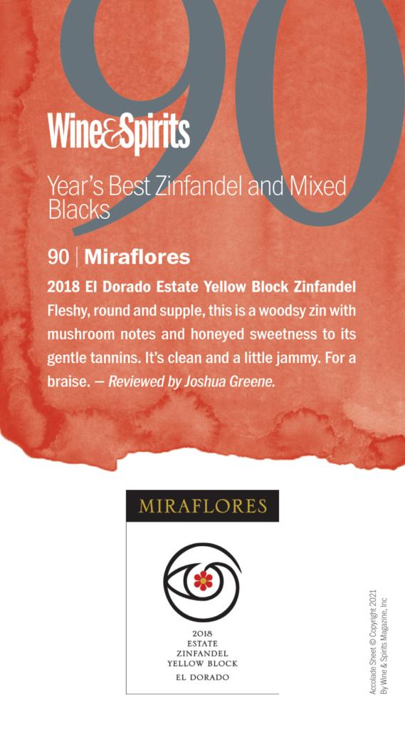 Wine Spectator - Miraflores Zinfandel